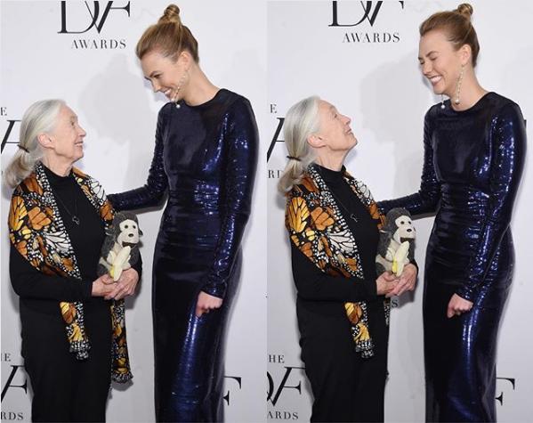 Jane Goodall and Karlie Kloss